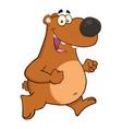happy brown bear cartoon character vector image