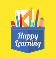 Happy Learning vector image vector image