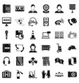 headphones icons set simple style vector image vector image