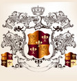 heraldic design with coat arms and shield vector image vector image