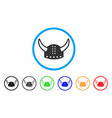 horned helmet rounded icon vector image vector image