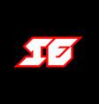 ie logo design initial ie letter design vector image vector image