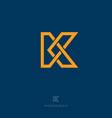 k letter monogram flat linear vector image vector image