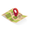 map pin gps icon location pointer indicator vector image vector image