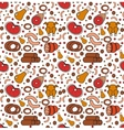 Meat products seamless pattern modern line vector image