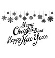 merry christmas and happy new year holiday with vector image