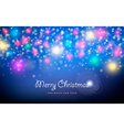 Merry christmas new year spark star greeting card vector image vector image