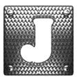 metal figure j vector image vector image
