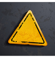 metal warning sign vector image vector image