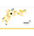 modern honeycomb background orange and black color vector image