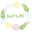 nature flowaer wreath vector image vector image