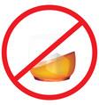 no alcohol road symbol sign and traffic symbol de vector image