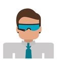 person using modern glasses icon vector image