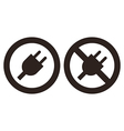 Plug and no plug symbol vector image