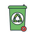 recycle bin waste ecology environment icon vector image