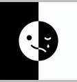 sad and cheerful mood in one emoji vector image vector image