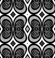 Seamless Vintage Black and White Lace Pattern vector image vector image