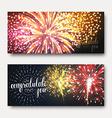 Set 2 brochures festive design with fireworks vector image