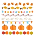 set cute autumn fall garlands with lights vector image vector image