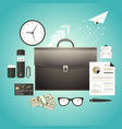 set of marketing management vector image