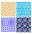 set of seamless brick pattern in mosaic style vector image