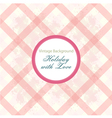 Shabby Chic background with pattern vector image