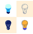 smart light bulb icon set in flat and line styles vector image vector image