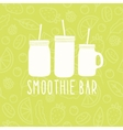 Smoothie bar logo 3 different mason jars vector image vector image