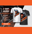 t-shirt mockup with pirate side head fully vector image vector image