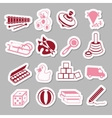 toys stickers vector image vector image