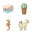 travel animals and other web icon in cartoon vector image vector image