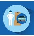 Warehouse building man worker package