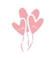 design of celebration love balloons vector image