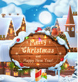 Merry Christmas and Happy New Year background 3d vector image
