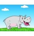 hippo cartoon vector image