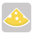 icon of cut cheese piece vector image