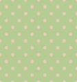 Seamless polka dot green pattern with circles vector image