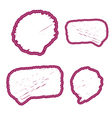 Bubbles thoughts stickers hand drawing isolated vector image