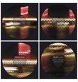 Set of 4 music album cover templates Night city vector image