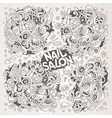 cartoon doodle set of nail salon designs vector image