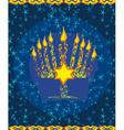 Jewish holiday hanukkah card vector image