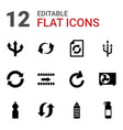 12 refresh icons vector image vector image