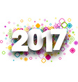 2017 background with rhombus vector image vector image