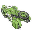3d on white background a military motorcycle vector image vector image
