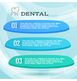 Ads dentist toothpaste leaflet vector image vector image