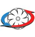 air conditioning fan symbol vector image vector image