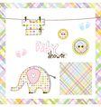 Baby shower design elements vector image vector image