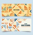 back to school geometric rulers banners vector image vector image