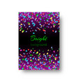 background brochures with bright confetti vector image vector image