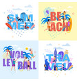 banner with huge letters set in summer time theme vector image vector image
